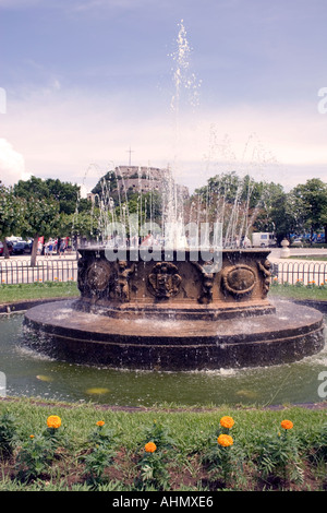 Fountain in the Spianada in front of the Old Fortress, Kerkyra, Corfu, - Stock Image