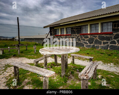 Robben Island, Cape Town, South Africa, that held political prisoners, such as Nelson Mandela, during the apartheid era - Stock Image