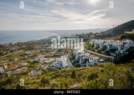 New Property apartments, villas Benalmadena, Costa del Sol, Andalucia, Spain. - Stock Image