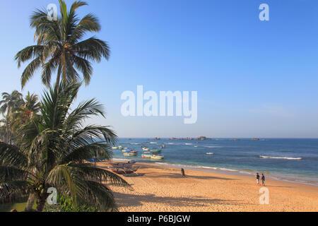 Sri Lanka, Hikkaduwa, Coral Sands Hotel, beach, - Stock Image