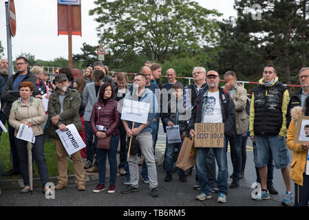 Further demonstration for Justice Minister Marie Benesova's resignation, held by Million Moments for Democracy NGO, are staged in regions - pictured R - Stock Image