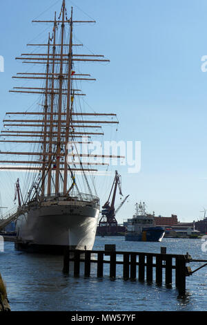 Barken Viking, a tall ship used as a hotel in Gothenburg - Stock Image