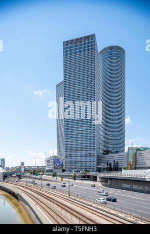 Israel, Tel Aviv-Yafo - 20 April 2019: Azrieli center - Stock Image
