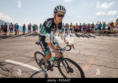 Gregor MÜHLBERGER Team Bora Hansgrohe Tour de France 2018 cycling stage 11 La Rosiere Rhone Alpes Savoie France - Stock Image