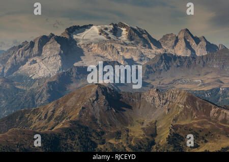 Europe, Italy, Alps, Dolomites, Mountains, View from Lagazuoi - Stock Image