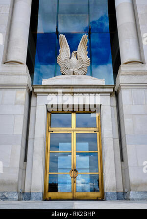 United States Federal Courthouse building and front entrance to the federal law enforcement center in Montgomery Alabama, USA. - Stock Image