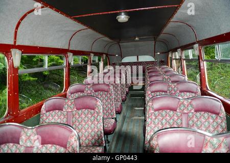 Interior of Vintage Coach -1 - Stock Image