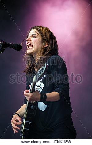 Tulsa performing live - Stock Image