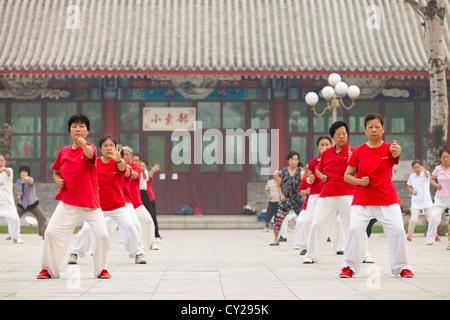 Qigong at Shuishang Park, Tianjin, China. - Stock Image