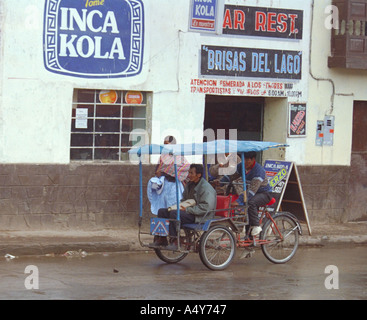 Street Scene in Arequipa, Peru - Stock Image
