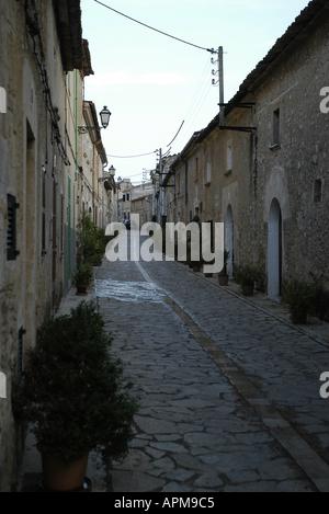 Street of Petra Mallorca Majorca Spain Balearic Islands Mediterranean - Stock Image