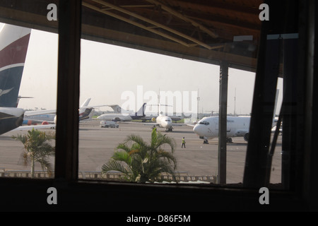 Aircraft parked at the apron of the General Aviation Terminal in Lagos. - Stock Image