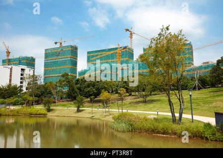 Construction of new buildings on the campus of Southern University of Science and Technology (SUSTech). Shenzhen, Guangdong Province, China. - Stock Image