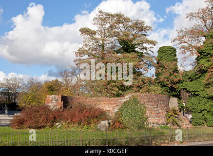 Jarmer's Tower, Jarmers Tårn, in Copenhagen from early 16th century. Only remains of one of eleven towers forming part of medieval city fortification. - Stock Image