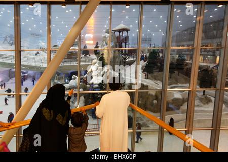 Dubai Mall of Emirates Ski dubai, Indoor skiing - Stock Image