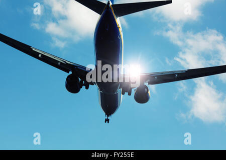 Aircraft in sunlight - Stock Image