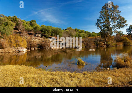 Sierra Norte Natural Park - Viar river. Seville province. Region of Andalusia. Spain. Europe - Stock Image