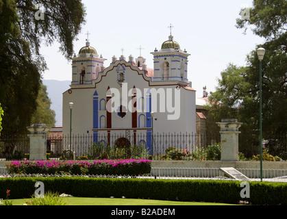 Santa María del Tule Church, Tule, Oaxaca State, Mexico - Stock Image