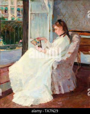 Berthe Morisot, The Artist's Sister at a Window, 1869 - Stock Image