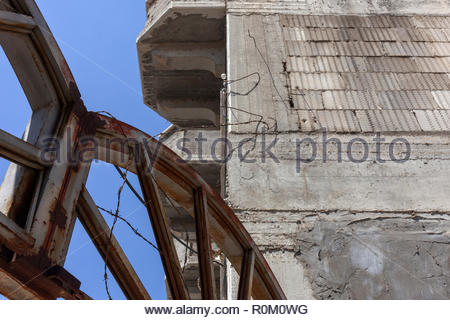 Patched Up Apartment Building - Stock Image
