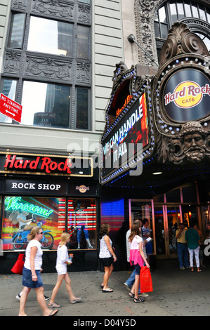 Hard Rock Cafe, New York City, USA - Stock Image