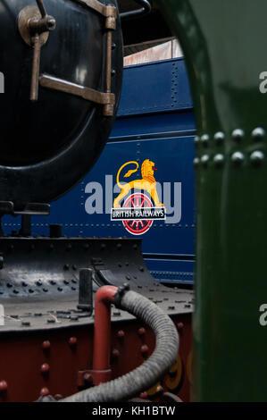 British Railways sign, Didcot railway centre, United Kingdom - Stock Image