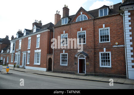 Properites on Old Town Stratford Upon Avon, Warwickshire - Stock Image