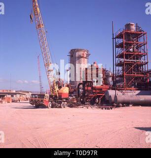 1960s, Saudi Arabia, fertiliser factory under construction. - Stock Image