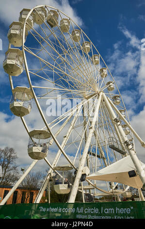 The big wheel in Stratford upon Avon, Warwickshire is a new tourist attraction for 2017. - Stock Image