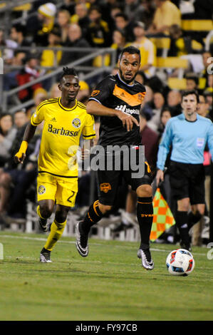 Mapfre stadium, USA. 23rd April, 2016. . in the second half of the match between Houston Dynamo and Columbus Crew - Stock Image
