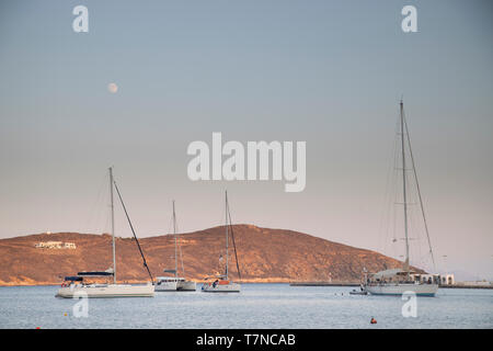 Greece, Cyclades islands, Serifos, Main Harbour - Stock Image