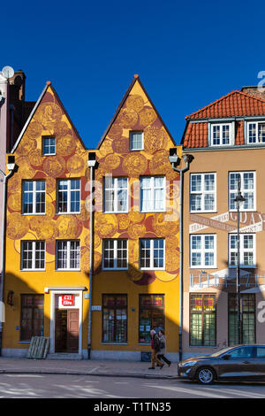 Townhouses in Gdansk, Poland - Stock Image