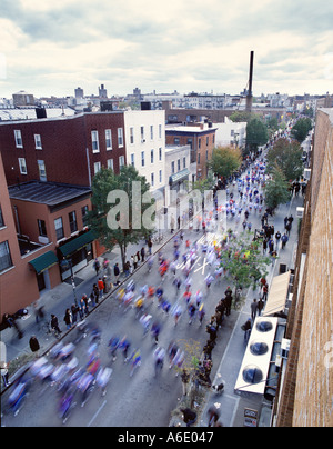 New York marathon 2002 Williamsburg Brooklyn - Stock Image
