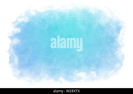 Gradient color summer blue water abstract or natural watercolor paint background - Stock Image