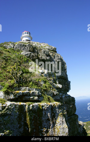 Cape Point Lighthouse, Cape Peninsula, Western Cape, South Africa, Africa - Stock Image