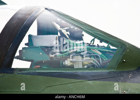 Croatian Air Force MiG-21 BISD cockpit detail behind windshield - Stock Image