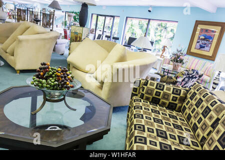 Naples Florida furniture store business retail showroom couch sofa cocktail table furnishing decor shopping - Stock Image
