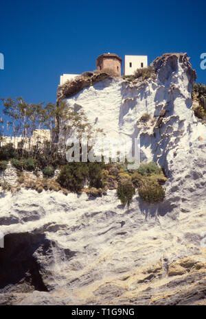 Sunny day at Ponza island, Pontine archipelago. 1991 Slide scan. Italy - Stock Image