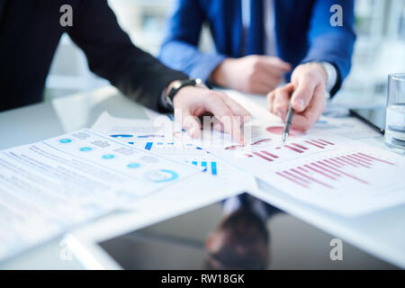 Analyzing paper - Stock Image