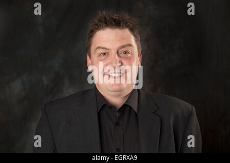 Walsall, West Midlands, UK. 1st March 2015. Nick Tiday Head of Sales at the new Big Centre TV channel. Big Centre - Stock Image