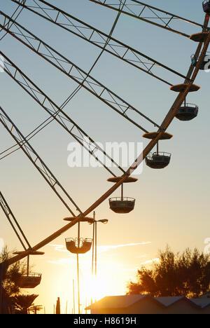 ferris wheel on the beach in rimini - Stock Image