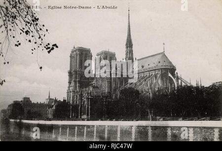 Paris, France - Eglise Notre-Dame. - Stock Image