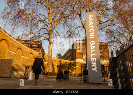 The Saatchi Gallery entrance - Stock Image