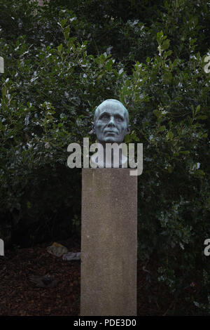 Bust of Kristian Bing, jurist, author and mountaineer. Born in Bergen in 1862. - Stock Image