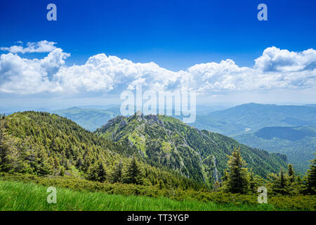 Amazing mountain landscape, natural outdoor travel background - Stock Image