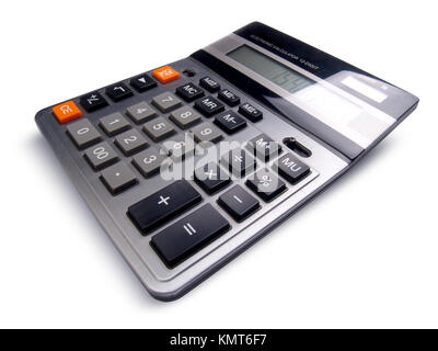 Professional business calculator isolated on white background - Stock Image