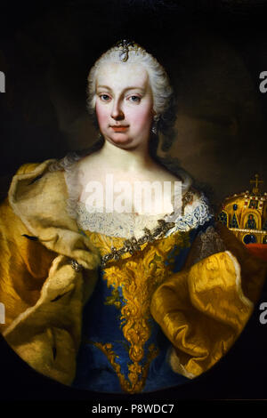 Maria Theresa ( Holy Roman Empress ) 1717 – 1780  German Queen by  Martin van Meytens (1695 –  1770) was a Dutch-Swedish painter The Netherlands ( Maria Theresa Walburga Amalia Christina 1717 – 1780 was the only female ruler of the Habsburg dominions and the last of the House of Habsburg. ) - Stock Image