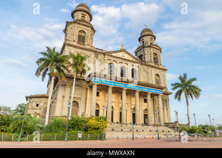 Ruins of the old cathedral Santiago de Managua, Nicaragua, Central America - Stock Image