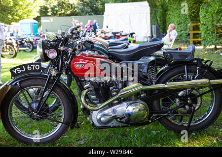 90th Kent County Show, Detling, 6th July 2019. Ariel motorcycle on display at the Kent Show. - Stock Image