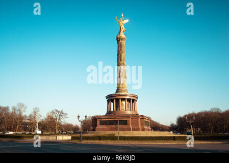 Victory Column monument in Berlin. Major tourist attraction in the city of Berlin - Stock Image